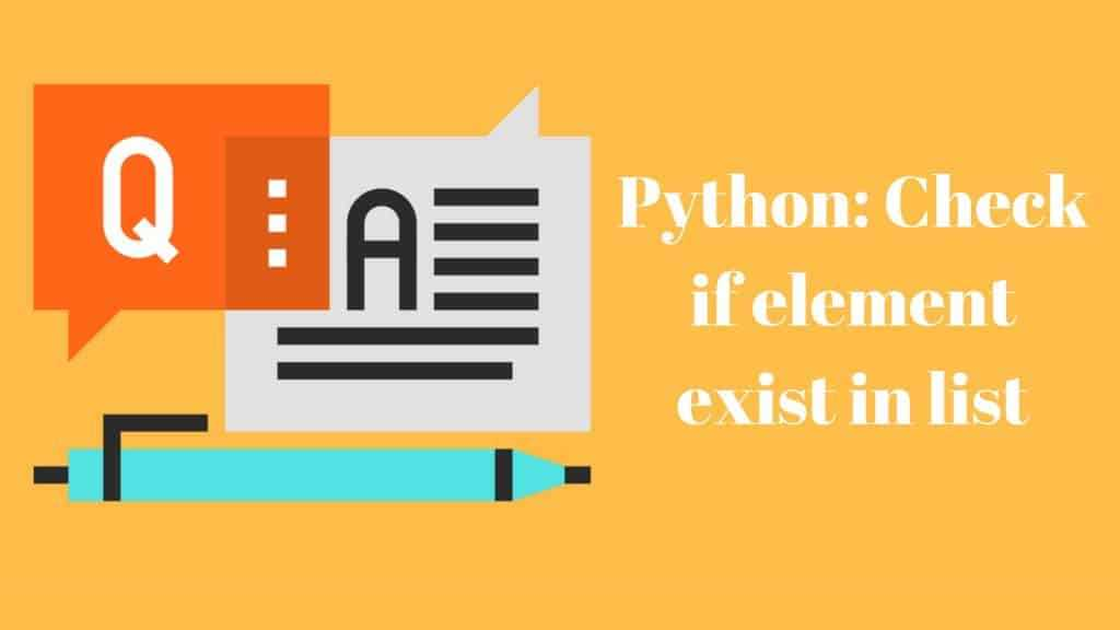 Python : How to check if list contains value