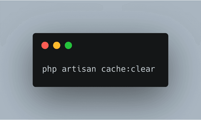 laravel cache clear